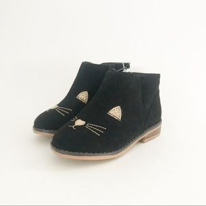 NWT Cat & Jack Esylt Black Cat Ankle Boots Girls 7